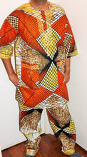 Load image into Gallery viewer, African Unisex Pant Set With Head Piece ! Embroidered ! One Size !!