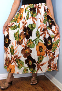 Broomstick Skirt ! Colorful Crinkle Rayon ! One Size, Fits Most ! Peasant Boho !! modern  Print !!