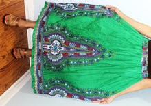 Load image into Gallery viewer, Broomstick Skirt ! Ethnic Print Crinkle Rayon ! One Size, Fits Most ! Peasant Boho !!