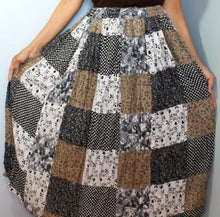 Load image into Gallery viewer, Broomstick Skirt ! Patch Print Crinkle Rayon ! One Size, Fits Most ! Peasant Boho !!
