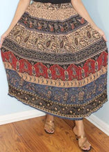 Load image into Gallery viewer, Broomstick Skirt ! Printed Crinkle Rayon ! One Size, Fits Most !