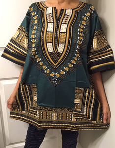 African Unisex Dashiki Plus Size! One Size! One Size Fits Most! Hippie Shirt
