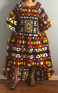 High Low Dress in African Print!! One Size Fits Most!!