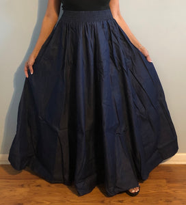 Long Flared Blue Denim Skirt One Size Fits Most!!