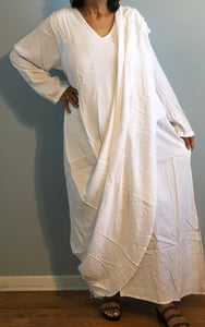 Boho Morrocan Magic Dress| Long Sleeves Layered Shawl Drape| Can be worn in several ways.