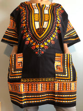 Load image into Gallery viewer, African Unisex Dashiki Plus Size! One Size! One Size Fits Most! Hippie Shirt! 60s 70s Look!