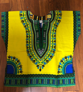 Kids Dashiki Available in Different Colors Unisex