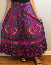 Load image into Gallery viewer, 100% Cotton Wrap Skirt! Dashiki Print! One Size Fits Most!