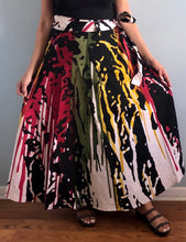 Load image into Gallery viewer, 100% CottonWrap Skirt | Paint Print ! One Size Fits Most |