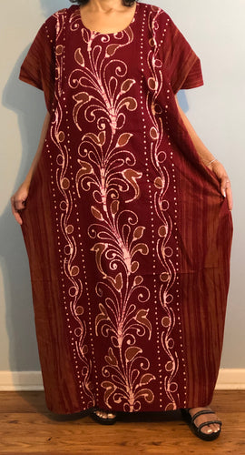 100% Cotton Caftan ! Plus Size ! One Size Fits  !!