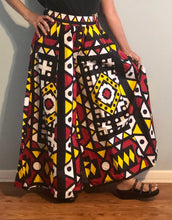 Load image into Gallery viewer, Full Flared Pants called Palazzo! One Size Fits Most!! African Print Flared Pants with Pockets!!