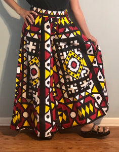 Full Flared Pants called Palazzo! One Size Fits Most!! African Print Flared Pants with Pockets!!