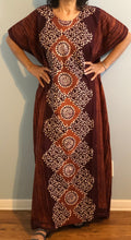 Load image into Gallery viewer, 100% Cotton Plus size 1X 2X 3X Printed Cotton Caftan ! One Size Fits Most Caftan !!