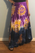 Load image into Gallery viewer, 100% Fine Rayon Wrap Skirt ! Tie-Dye Print ! One Size Fits Most !