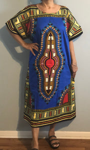 Dashiki Print Kaftan with Zipper, 1X, 2X, 3X