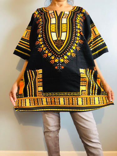 African Unisex Dashiki Plus Size! Hippie Shirt! 60s 70s Look!