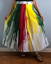 Load image into Gallery viewer, E 100% Cotton Wrap Skirt | Paint Print ! One Size Fits Most |