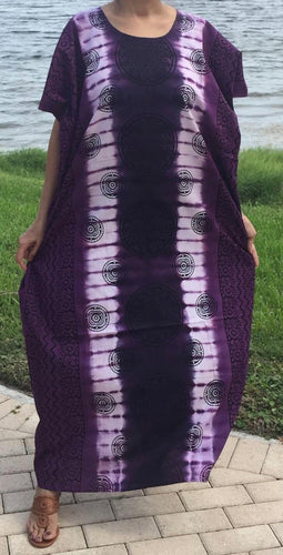 100% Cotton Plus size 1X 2X 3X Printed Cotton Caftan ! One Size Fits Most Caftan!!
