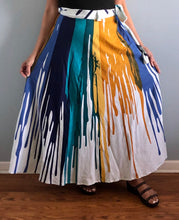 Load image into Gallery viewer, 100% Cotton Wrap Skirt | Paint Print ! One Size Fits Most |