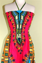 Load image into Gallery viewer, Dashiki Print Tube Halter Sun Dress or Skirt! One Size! Available in 8 Colors!!