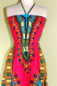 Dashiki Print Tube Halter Sun Dress or Skirt! One Size! Available in 8 Colors!!
