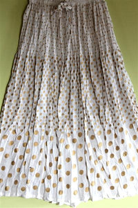 Broomstick Skirt ! Printed Crinkle Rayon ! One Size, Fits Most !