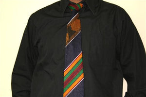 Men's African Tie! Kente Cloth! You can Matching Kufi Cap and kerchief available.
