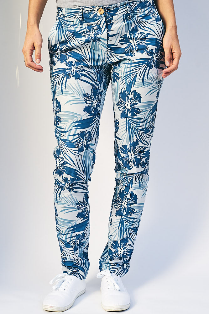 'Blue Hibiscus' Pants