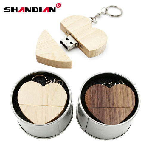 Wooden Heart USB