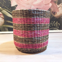 Load image into Gallery viewer, Pink Pattern Seagrass Basket E, Bungalow, BASEstr615