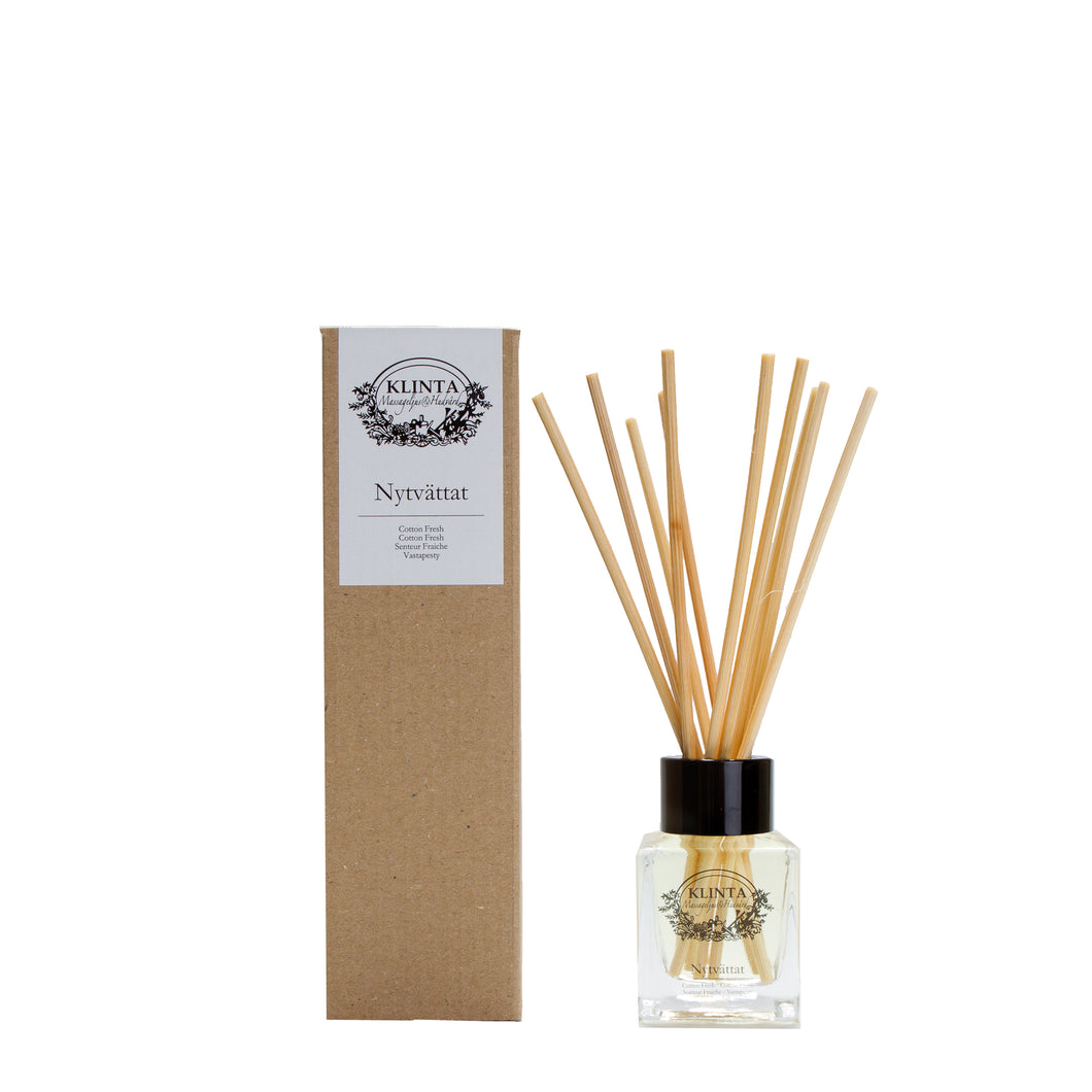 Reed Diffuser Nytvattät, Fresh Cotton, Klinta, K0939