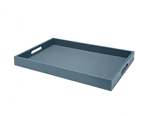 Large Blue Wooden Tray, Broste, 14590897