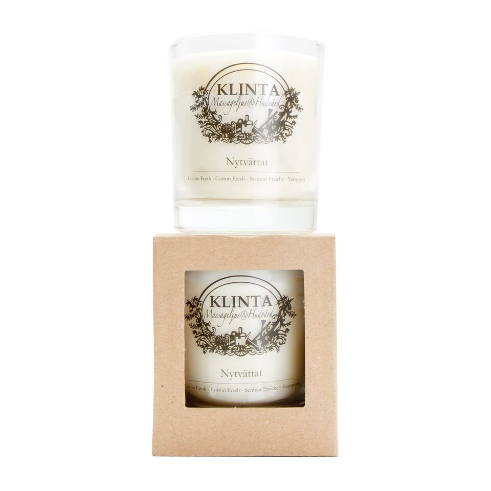 Nytvättat Cotton Fresh Scented Candle 45 Hour, Klinta, K0239