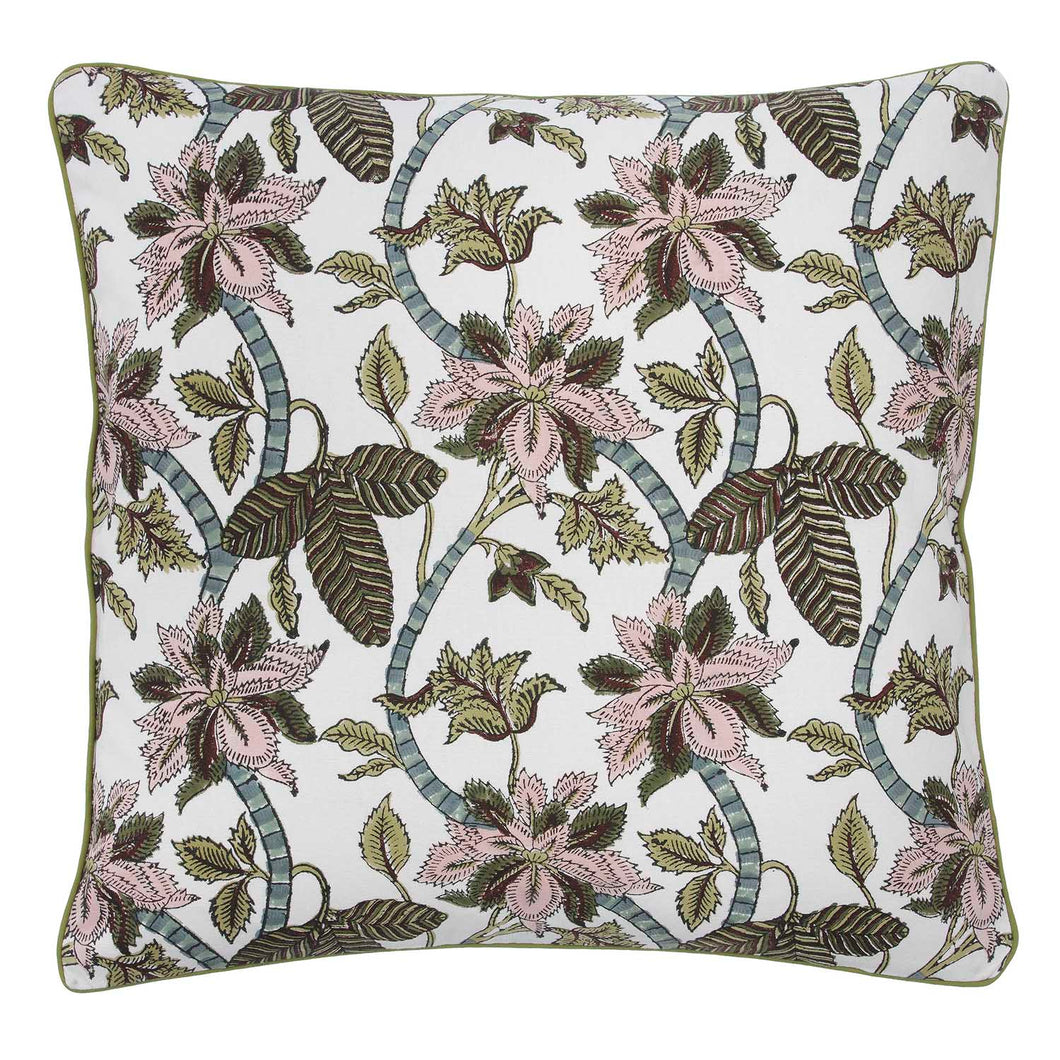 Floral Chintz Pink and Green Cushion Cover, Bungalow, CCchi350