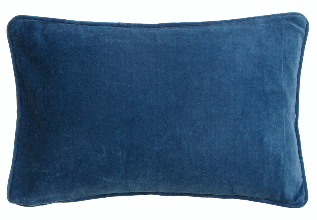 Velvet Cushion China Blue, 50x70cm, Bungalow