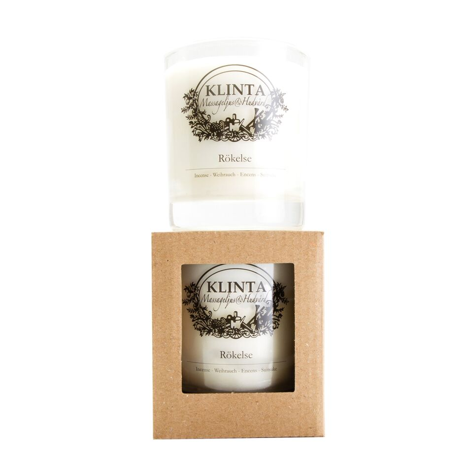 Rokelse, Incense Scented Candle, 45 Hour, Klinta, K0285