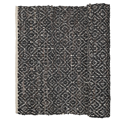 Kamma Rug, Leather/Cotton, Broste, 70070179