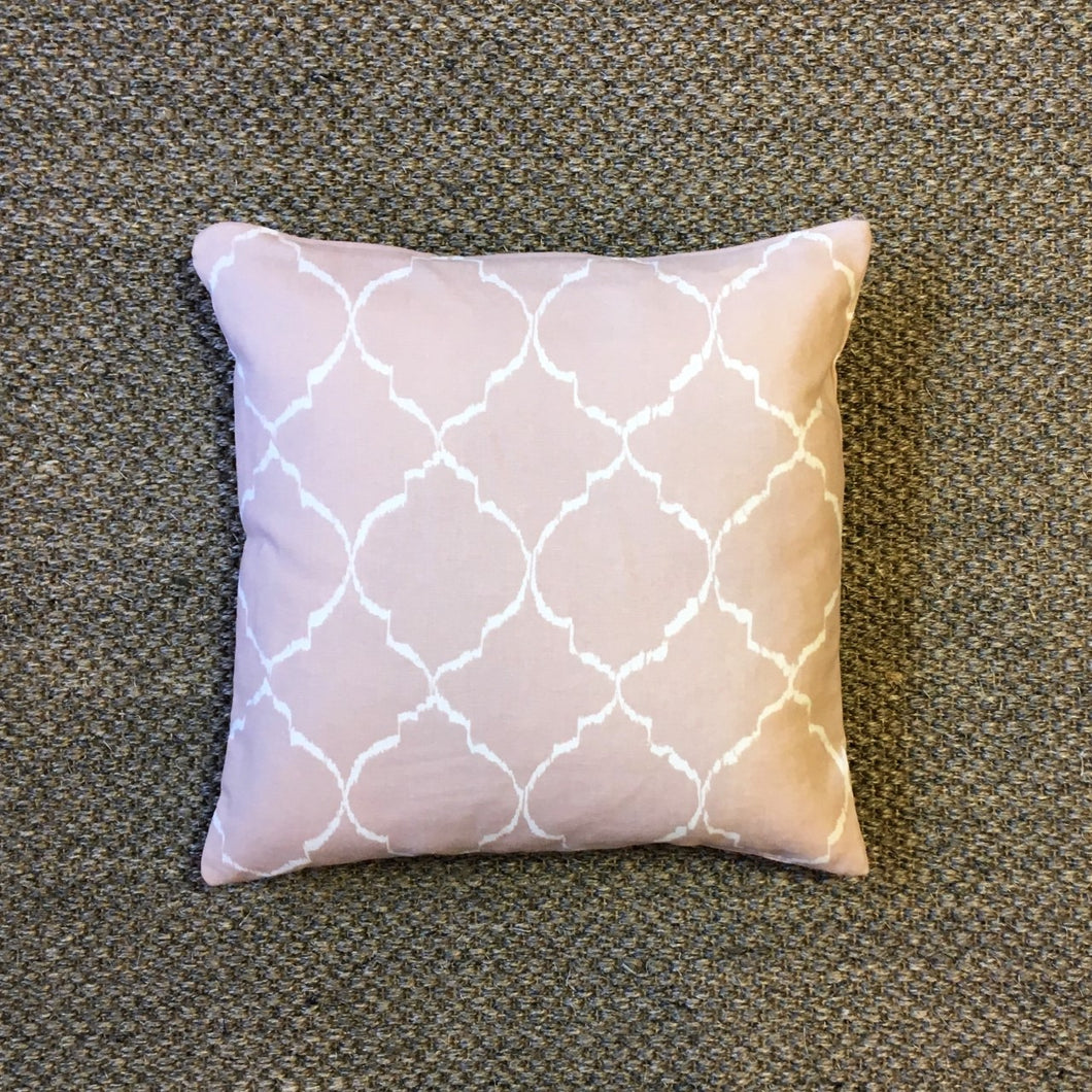 Dusty Pink Marrakesh Square Cushion, Hand-made