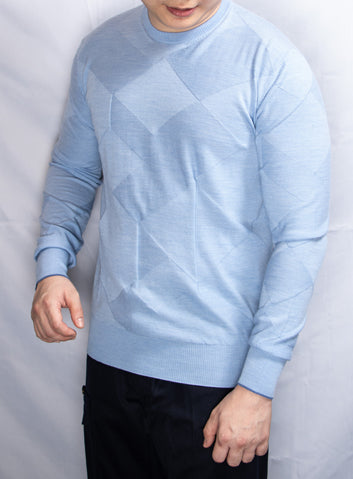 Cortigiani Sky Blue Knitted Sweater