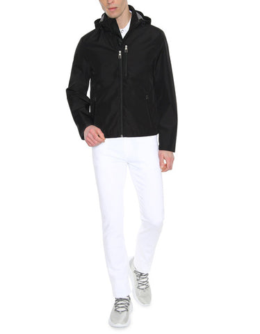 Canali Black Leaf Tec Jacket with Detachable Hood