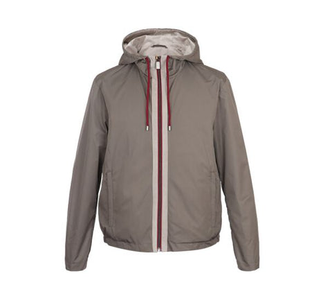 Canali Militare Bomber Jacket with Knitted Details
