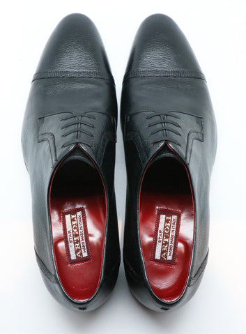Artioli Black Calf Leather Derby Shoes