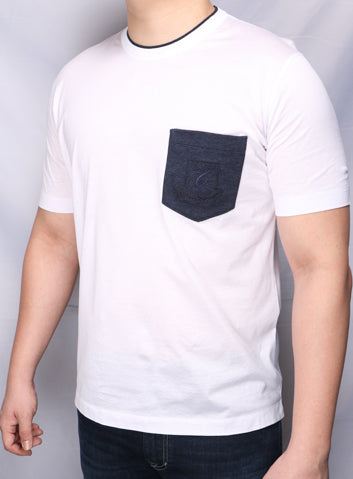 Cortigiani White Patch Pocket Tshirt