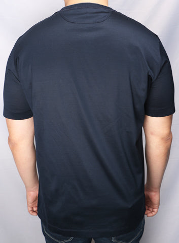 Cortigiani Navy Blue Patch Pocket Tshirt