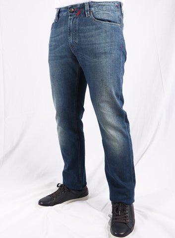 Cortigiani Blue Medium Wash Jeans