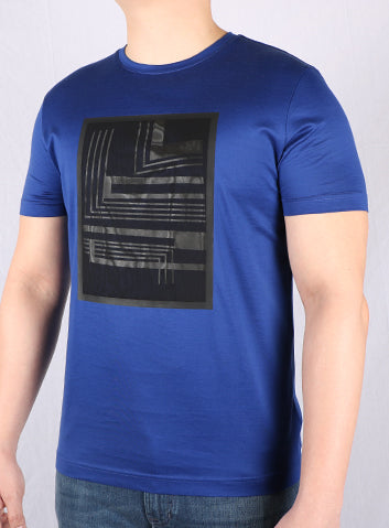 JM Blue Printed T-Shirt