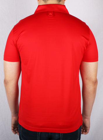 JM Red Iconic Polo Shirt