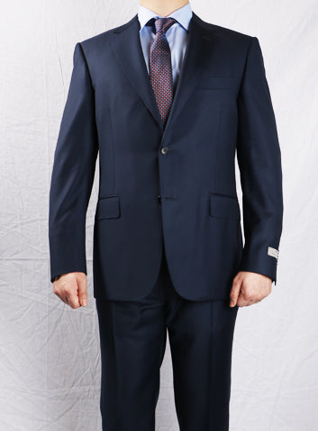 Canali Carbon Blue Regular Fit Lined Jacket