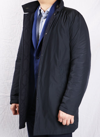 Blue Reversible Trench Coat