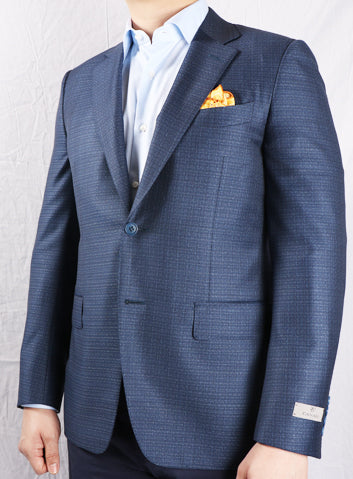 Canali Blue Regular Fit Lined Jacket